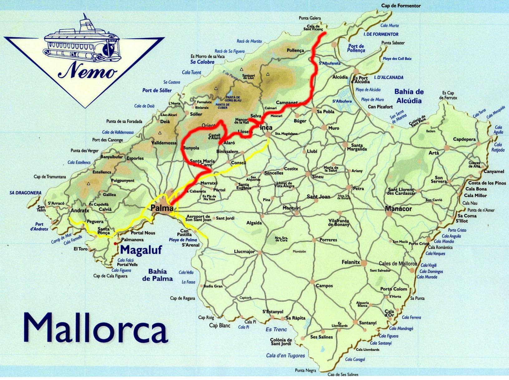 Mallorca Karte Alcudia.Mietwagentouren